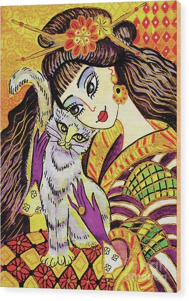 Feline Rhapsody Wood Print