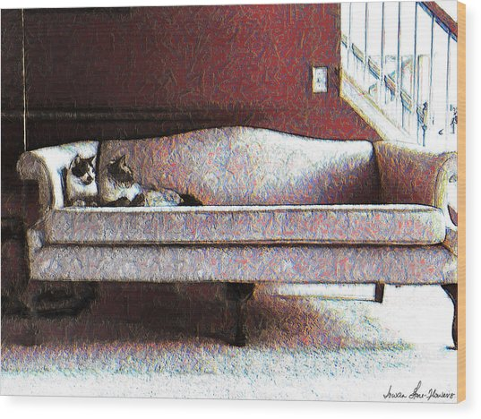 Felines Be Like... Wood Print