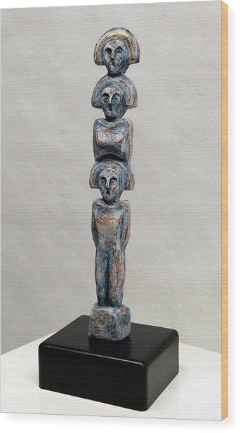 Female Figurine - Goddess Worship - Matronen - Matrone - Matrones - Matron - Nettersheim Eifel  Wood Print