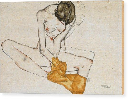 Female Nude Wood Print