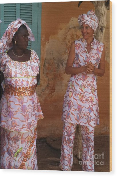 Femmes De Goree Wood Print
