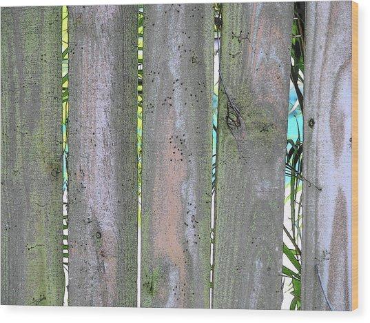 Fence South Wood Print