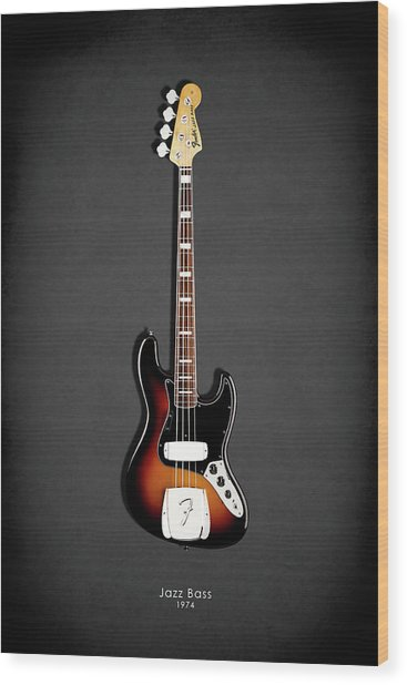 Fender Jazzbass 74 Wood Print