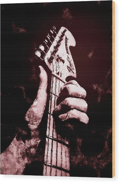 Fender Stratocaster - 06  Wood Print by Andrea Mazzocchetti