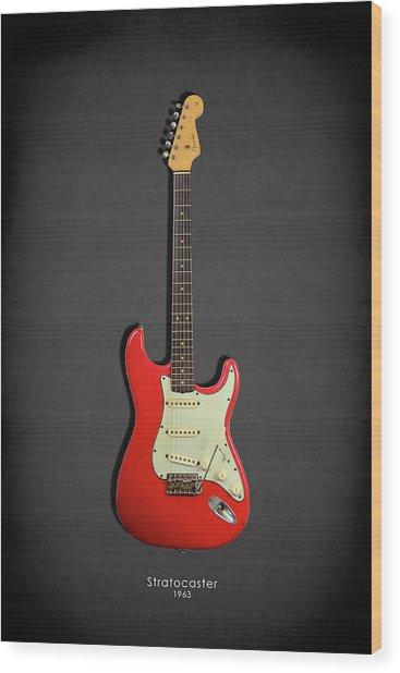 Fender Stratocaster 63 Wood Print