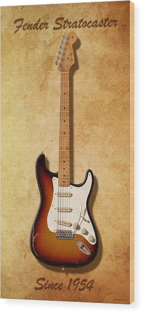 Fender Stratocaster Since 1954 Wood Print