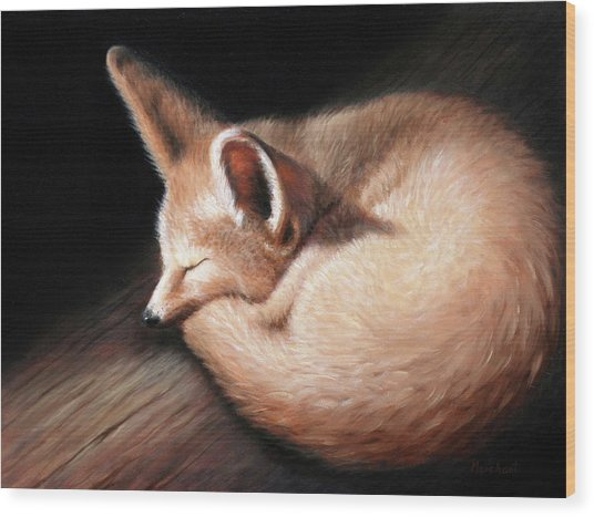 Fennec Fox Wood Print