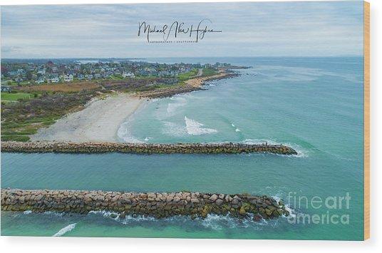 Fenway Beach, Weekapaug Wood Print