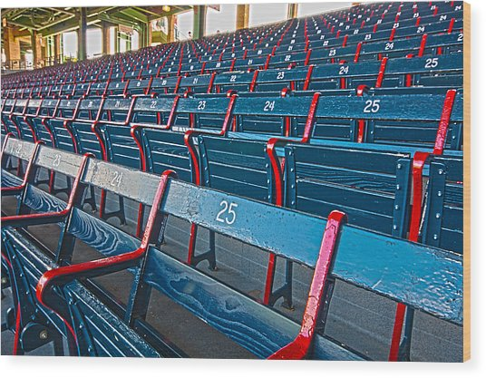 Fenway Bleachers Wood Print