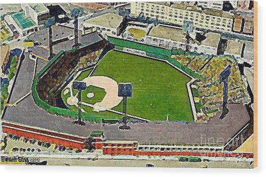 Fenway Park Baseball Stadium In Boston Ma In 1940 Wood Print
