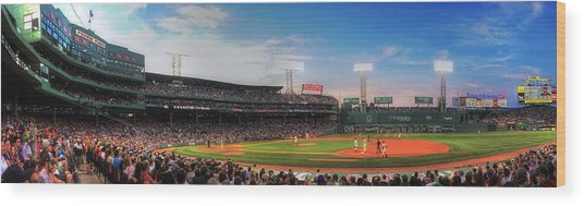 Fenway Park Panoramic - Boston Wood Print