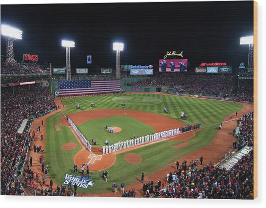 Fenway Park World Series 2013 Wood Print