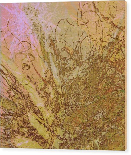 Fern Series 32 Bubbles Rise Wood Print