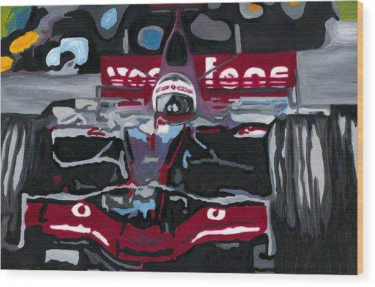 Fernando Alonso Wins Monaco For Mclaren 2008 Wood Print