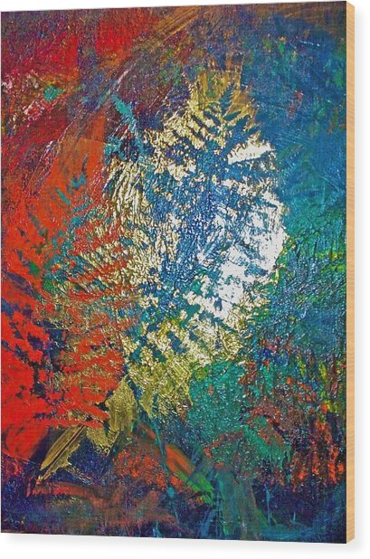 Ferns Wood Print by Jennifer Addington