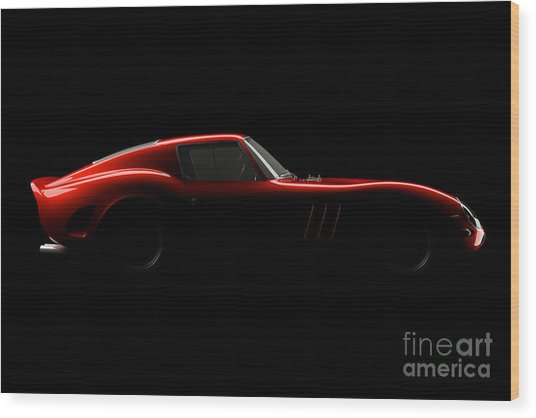 Ferrari 250 Gto - Side View Wood Print