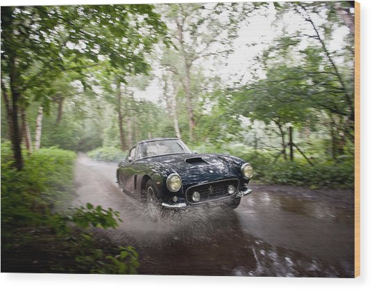 Ferrari 250 Swb Splash Wood Print