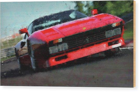 Ferrari 288 Gto - 34  Wood Print by Andrea Mazzocchetti