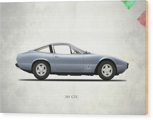 Ferrari 365 Gtc-4 Wood Print