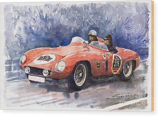 1953-1955 Ferrari 500 Mondial 1000 Miglia Wood Print
