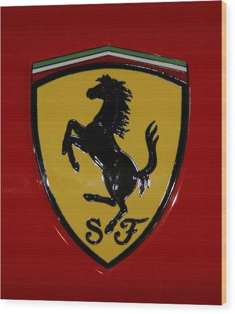 Ferrari Emblem 4 Wood Print