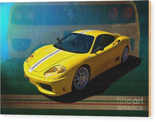 Ferrari F430 Wood Print