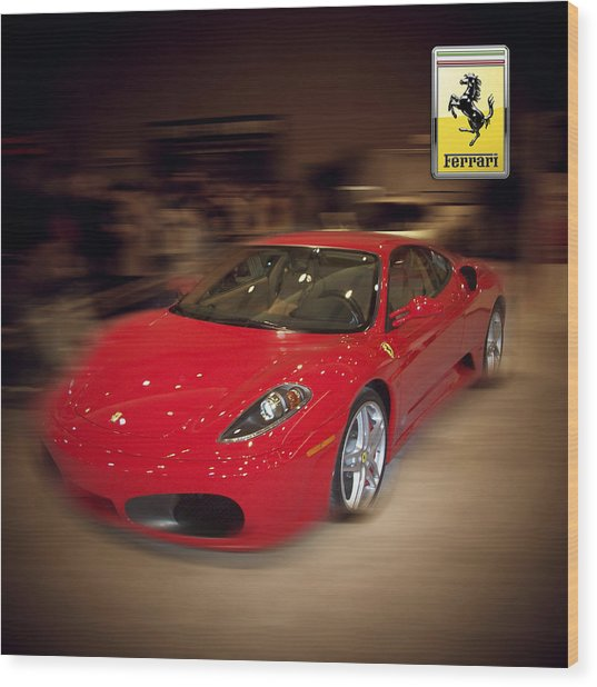 Ferrari F430 - The Red Beast Wood Print