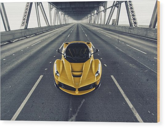 Wood Print featuring the photograph Ferrari Laferrari by ItzKirb Photography