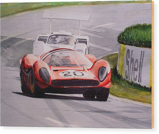 Ferrari P4 Le Mans Wood Print