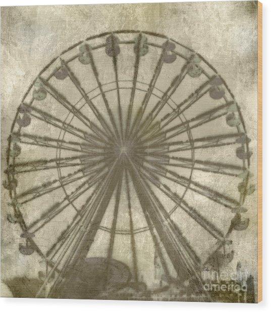 Ferris Wheel Wood Print by Laurie Hasan