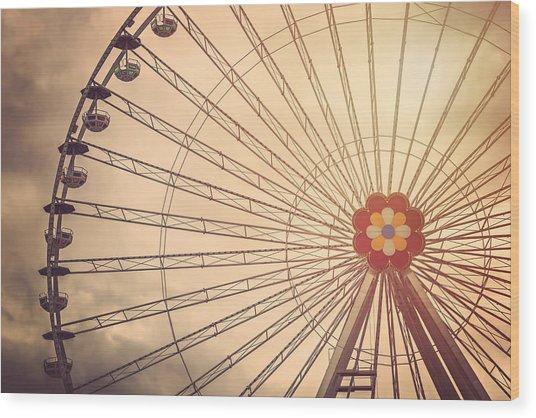 Ferris Wheel Prater Park Vienna Wood Print