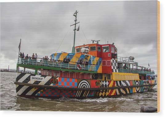 Ferry Cross The Mersey - Razzle Boat Snowdrop Wood Print