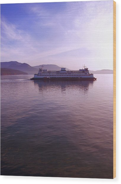 Ferry Ride Through The San Juans Wood Print by Karla DeCamp