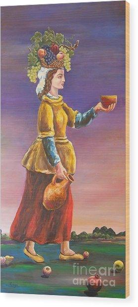 Fertility Wood Print by Ushangi Kumelashvili