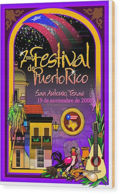 Festival De Puerto Rico Wood Print by William R Clegg