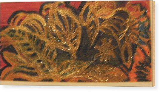 Festive Foliage Wood Print by Anne-Elizabeth Whiteway
