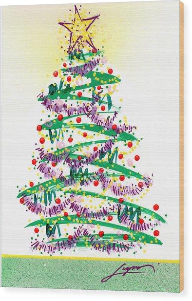 Festive Holiday Wood Print