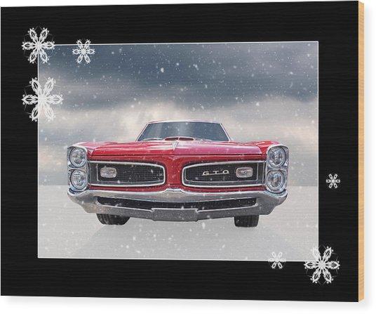 Festive Pontiac Gto Wood Print