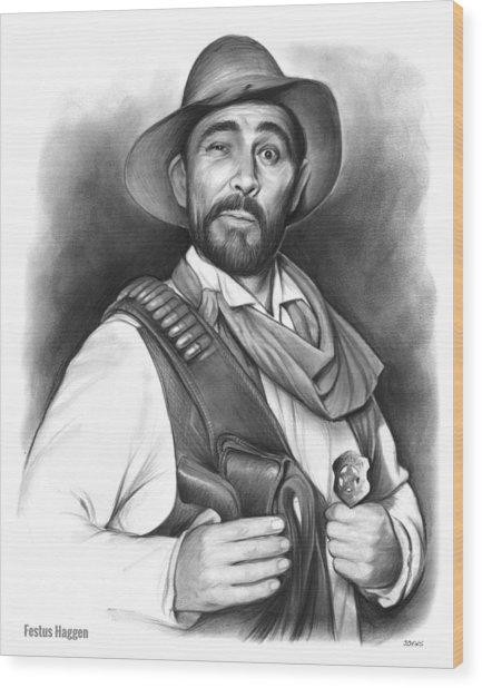 Festus Haggen Wood Print
