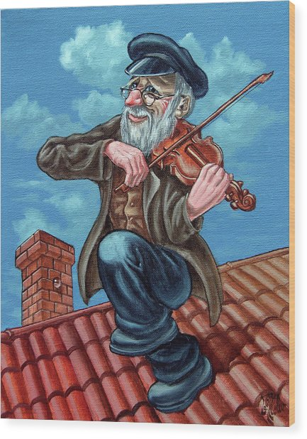 Fiddler On The Roof. Op2608 Wood Print