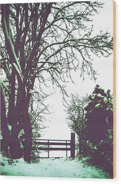 Field Gate Wood Print