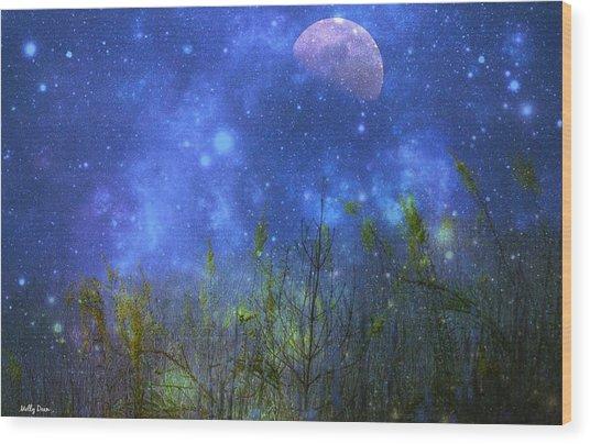 Field Of Fireflies Wood Print by Molly Dean