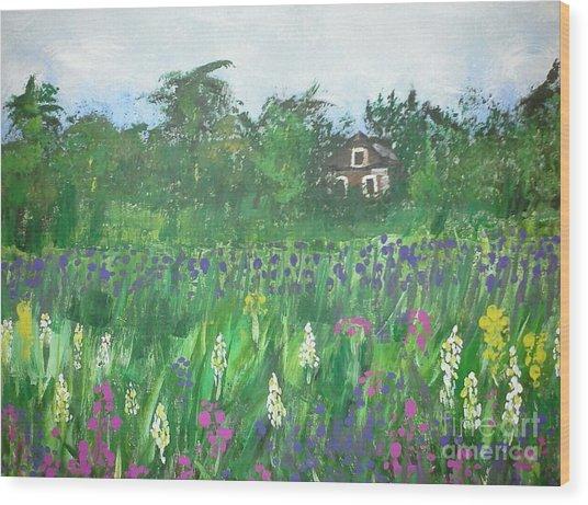Field Of Wildflowers Wood Print