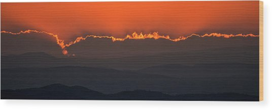 Fiery Sunset In The Luberon Wood Print