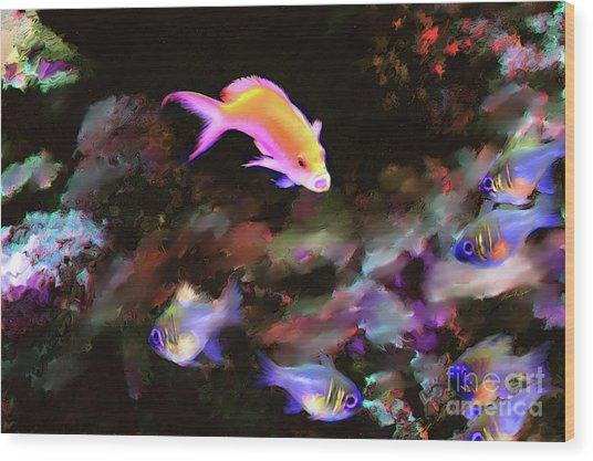 Fiesty Fish Wood Print
