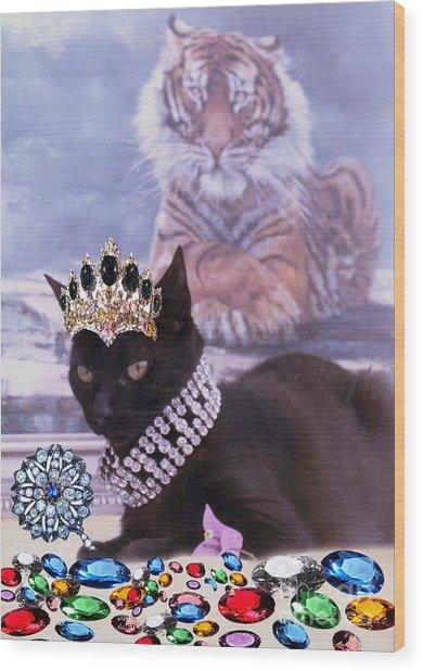 Fifi Diamonds Are A Kitten Best Friends Wood Print by Silvia  Duran