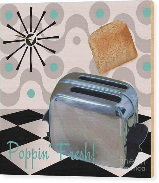 Fifties Kitchen Toaster Wood Print
