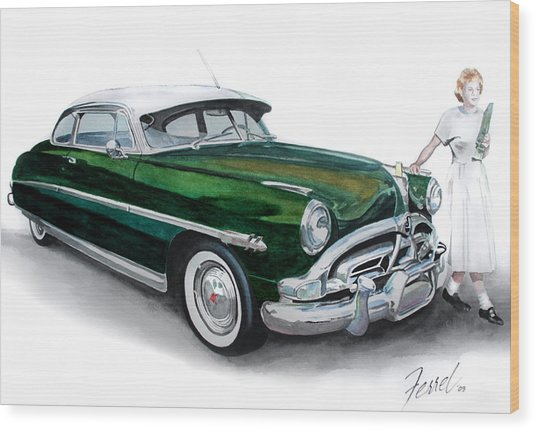 Fifty-one Hudson Wood Print by Ferrel Cordle