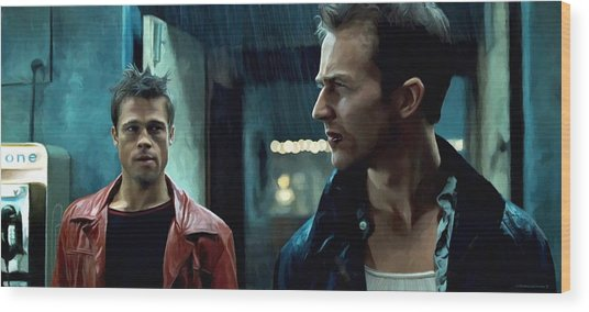 Fight Club #1 Large Size Painting Wood Print