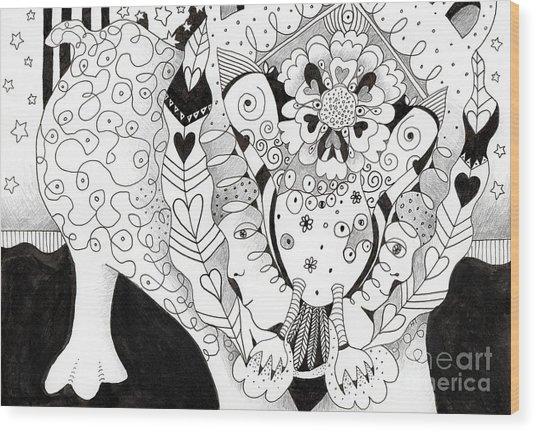 Figments Of Imagination - The Beast Wood Print
